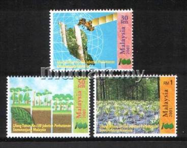 Mint Stamps 100th Anniversary Forestry Msia 2001