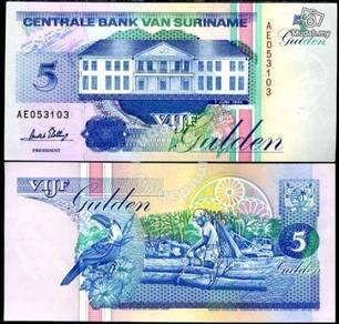 Suriname 5 gulden 1998 p 136 unc