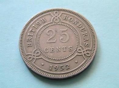 British Honduras 25 Cents 1952 [Kod : A2749]