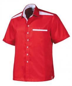 KEMEJA Korporat F1 Lengan Pendek FM6172 RED WHITE