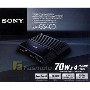 Sony XM-GS400 4 Ch Stereo Amplifier 70W RMS