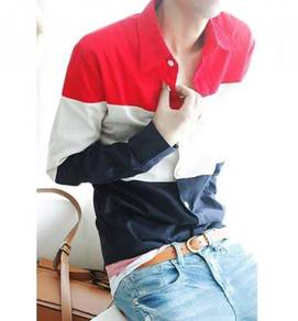 0516 Stylish TriColor Formal Men Long-Sleeve Shirt