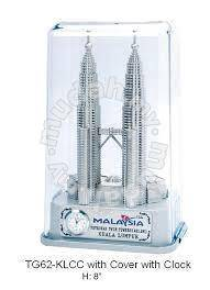 KLCC Souvenir with clock and plastic cover