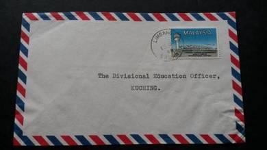 Antik Cover Sarawak LIMBANG 1966 No 2144 RARE