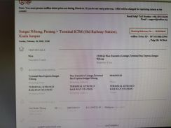 Bus ticket to sell Penang to old railway18 Feb 3pm