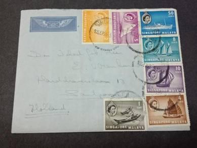 Antik Cover Malaya Holland 1955 No 3066