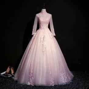 Pink grey blue prom wedding dress gown RBMWD0165