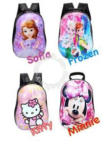 3d hard case cartoon bag / beg sekolah 13