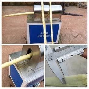 Sugar cane peeler machine scraping peeling