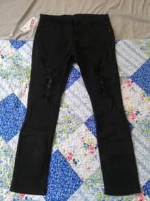 Seluar Jeans Hitam Slim Fit Size 36