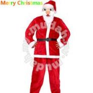 Christmas Santa Claus Suit Material:Nonwoven cloth