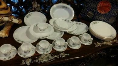 27Pcs vintage white porcelain bamboo design SLG