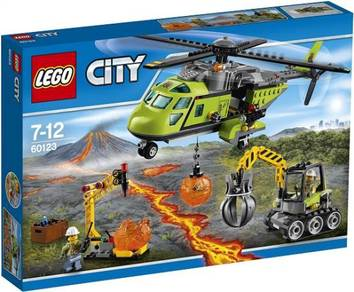 LEGO 60123 Volcano Supply Helicopter
