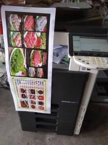 Baru demo konica minolta printing sticker,kad kahw