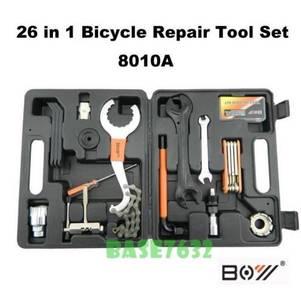 26 in 1 Bicycle Bike Repair Tool Kit Set Handy Box