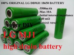 Lg MJ1 18650 Battery 3.7V 3500mAh Power Bank Vape