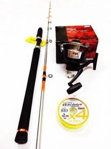 Seahawk intrepid jigging rod combo shimano fx reel