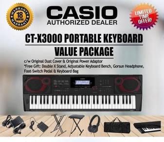 CASIO CTX3000 Keyboard Piano Package