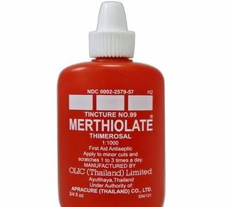 Merthiolate Thimerosal Tincture First Aid Antisept
