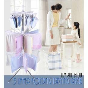 3 Tier Clothes Drying Rack / Ampaian Baju 01