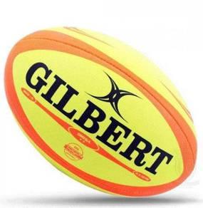 17RA Gilbert Omega Fluoro Rugby Ball
