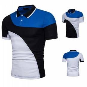 Block Short Sleeve POLO T-Shirt MFCYG 9442