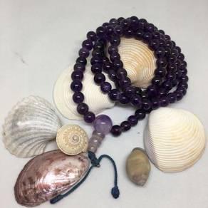 Genuine Amethyst Rosary/Mala Prayer Beads