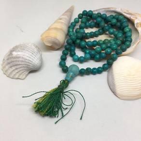 Genuine Turquoise Rosary/Mala Prayer Beads