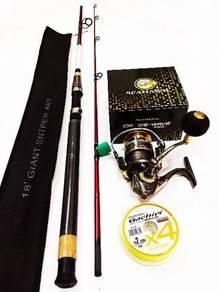 Alpine rod combo seahawk crosswave reel