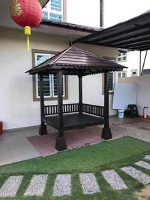 Gazebo piramid satu layer