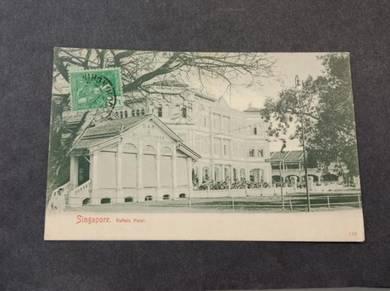 Postcard Hotel Raffles 1908 PC 2810