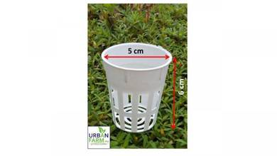 Pot mini diameter 5 cm white mesh pot hydroponic