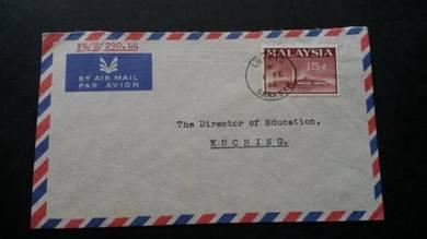 Antik Cover Sarawak LUTONG 1966 No 2147 RARE