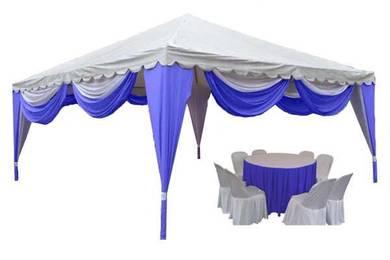 Canopy Piramid 6mx6m mesra pelanggan