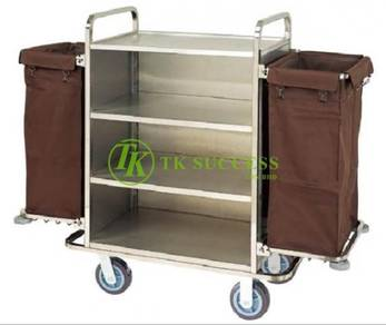 Stainless Steel Maid Trolley -Side Foldable