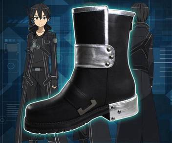 SAO Kirito Asuna Sinon cosplay shoes boots