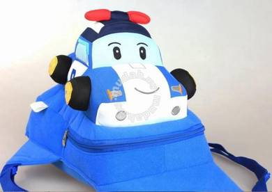 Cute Soft Plush Robocar Poli Bag Backpack- POLI