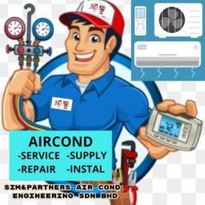 Professional service repair pasang aircond air con