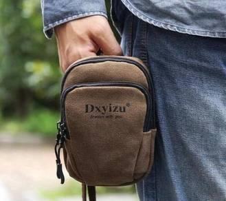 Brown Multi-Purpose Travel Arm Waist Phone Bag