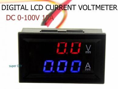 Digital LCD DC 0-100V 10A Voltmeter Ammeter