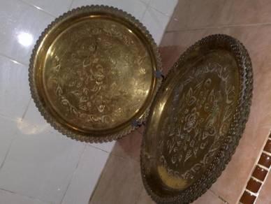 Dulang tembaga antik antique brass tray 10