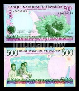 Rwanda 500 francs 1998 p 26 unc