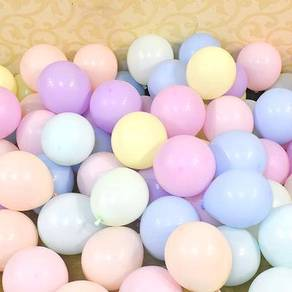 100 pcs macaron purple pink blue yellow balloons
