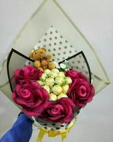 Ferero rocher bouquet 16pcs