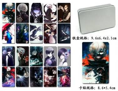 Tokyo Ghoul Kineki IC card sticker with Iron box