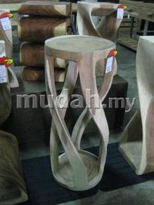 Aipj Round twist wood console table