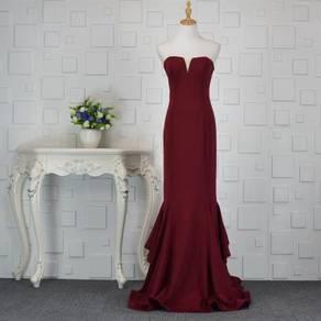 Red maroon green wedding prom dinner dress RBP0246