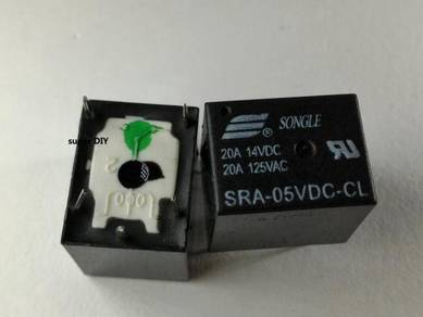 5V DC Relay SRA-5VDC-CL Arduino 5 pin SONGLE 20A