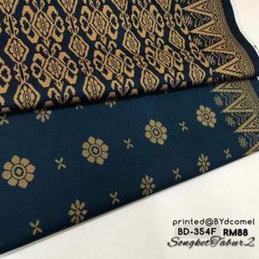 Kain Cotton Songket Printed BD-354F