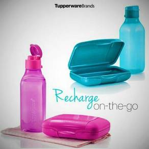 Tupperware Compact Lunch Set Pink Blue
